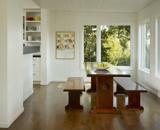 Transitional Dining Room by Cary Bernstein Architect