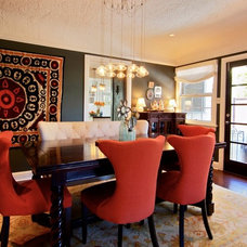 Eclectic Dining Room by Chelsea Pineda Interiors