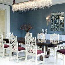 Contemporary Dining Room by Jamie Herzlinger