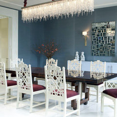 modern dining room by Jamie Herzlinger