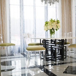 Inspiration for a mid-sized contemporary marble floor and multicolored floor dining room remodel in Phoenix