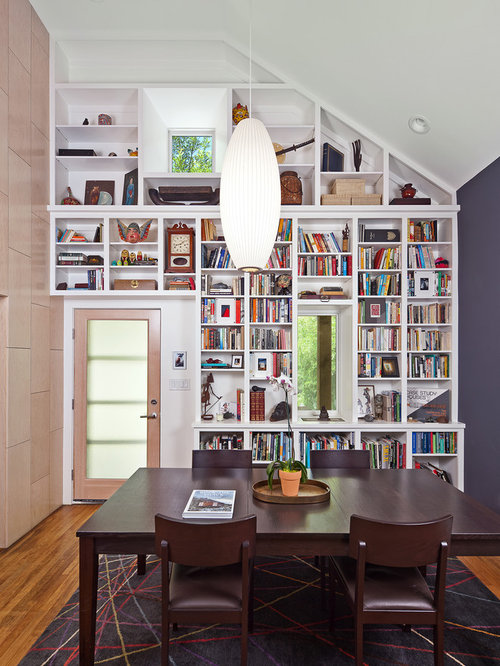 Slanted Ceiling Bookcase Ideas, Pictures, Remodel and Decor