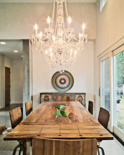 Eclectic Dining Room by BARRETT STUDIO architects