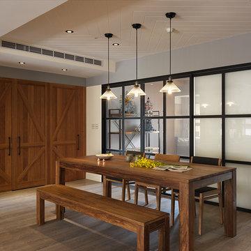 Casablanca Condo Design by SpaceArt - Country Dining Room Design