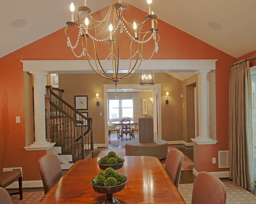 Half wall with column houzz for Dining room half wall ideas