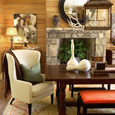 Rustic Dining Room by Robert Brown Interior Design