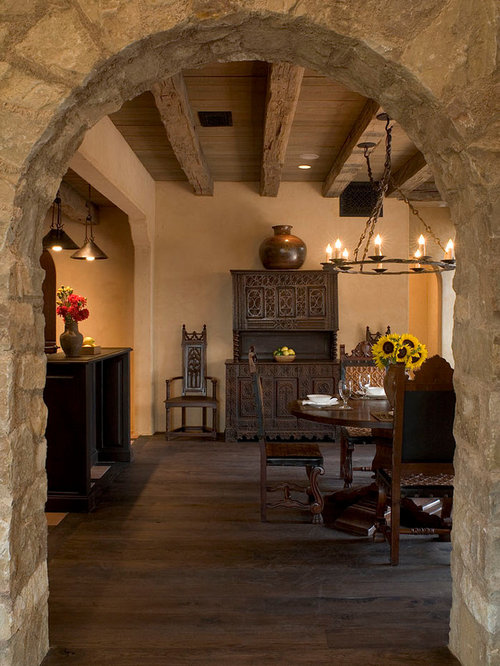 Open Concept Kitchen Dining Room: Stone Arch