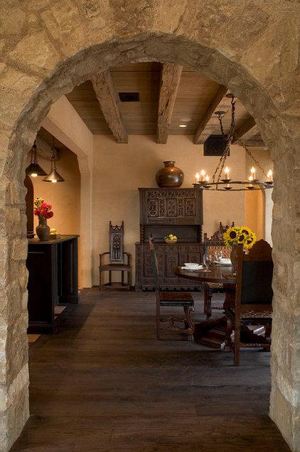 Mediterranean Dining Room by Rachel Mast Design