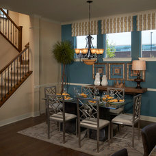 Eclectic Dining Room by David Weekley Homes