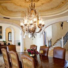 Mediterranean Dining Room by Tuggey Interior Design