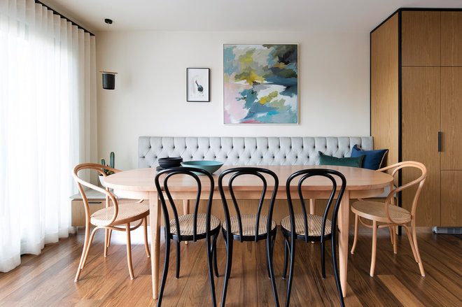 Contemporary Dining Room by Woods & Warner