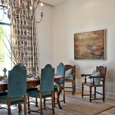 Transitional Dining Room by Greenbelt Construction