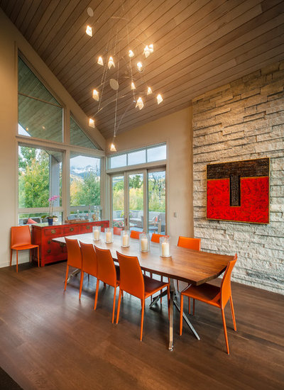 Contemporary Dining Room by Tommy Hein Architects