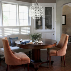 Eclectic Dining Room by CCG Interiors, LLC.