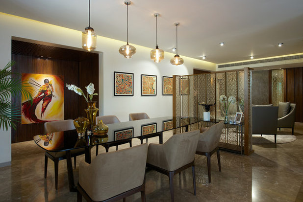 Contemporary Dining Room by KDND Studio LLP