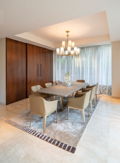 Contemporary Dining Room by White shadows design studio