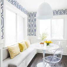 Transitional Dining Room by Ali Budd Interiors