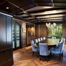 Transitional Dining Room by Graytek