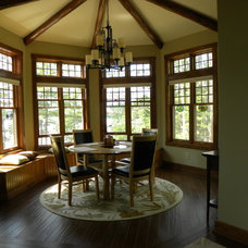 Traditional Dining Room by Waldmann Construction