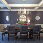 Chic Victorian Transitional Dining Room San