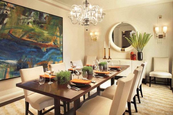 Contemporary Dining Room by David Scott Interiors