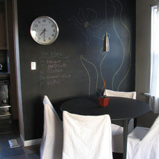 Eclectic Dining Room chalkboard wall- flicker.com by booizzy