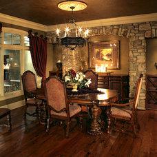Mediterranean Dining Room by Alexander Design Group, Inc.
