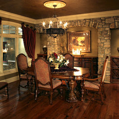 mediterranean dining room by Alexander Design Group, Inc.