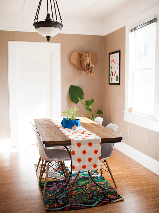 dining room table runner | houzz