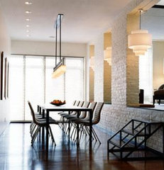 contemporary dining room by Chapman Architects