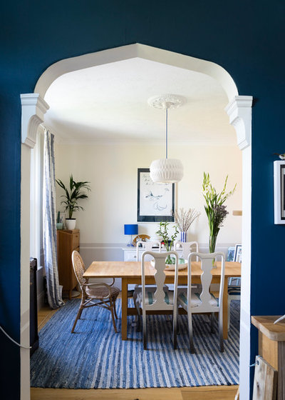 Contemporary Dining Room by Farrow & Ball