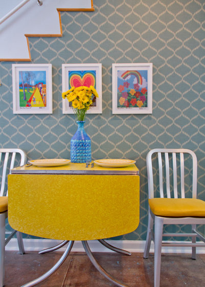 Modern Dining Room by Erika Bierman Photography