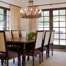 Mediterranean Dining Room by Charmean Neithart Interiors, LLC.