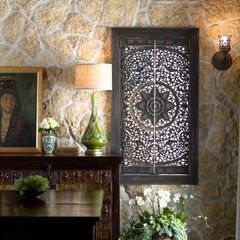 mediterranean dining room by Charmean Neithart Interiors, LLC.