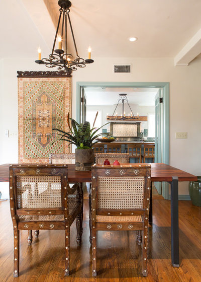 Eclectic Dining Room by Erika Bierman Photography