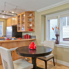Transitional Dining Room by Seattle Staged to Sell and Design LLC