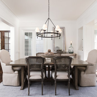 Inspiration For A Transitional Dark Wood Floor And Brown Dining Room Remodel In Atlanta With