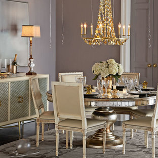 Example of a dining room design in Dallas
