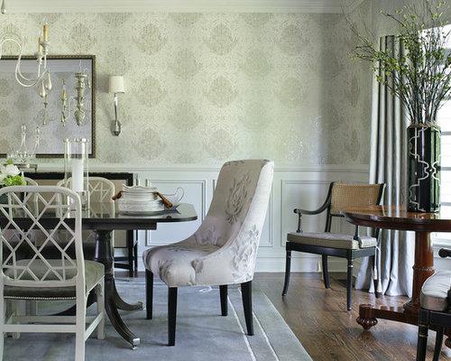 dado rail wallpaper ideas and photos houzz. Black Bedroom Furniture Sets. Home Design Ideas