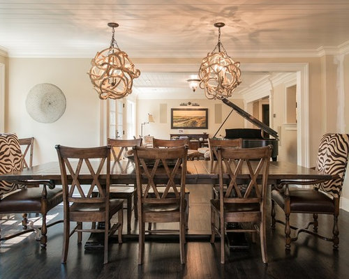 zebra print chairs dining room design ideas remodels photos