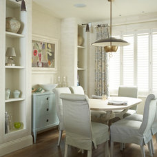 Transitional Dining Room by Thorp Design