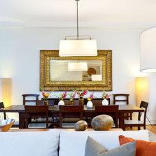 Rustic Dining Room by Helaina Bernstein Design