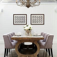 Transitional Dining Room by A.LONDON by Accouter