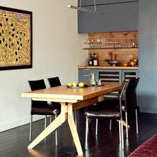 Contemporary Dining Room by Tamara H Design