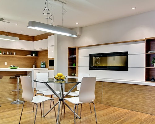 hanging living room and vancouver kitchen design. inspiration for a mid-sized modern bamboo floor kitchen/dining room combo remodel in hanging living and vancouver kitchen design