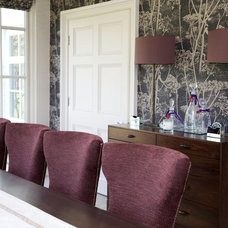 Transitional Dining Room by Fiona Watkins Design Limited