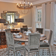 Transitional Dining Room by Ally Whalen Design