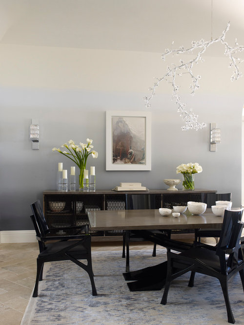 Ombre wall paint home design ideas pictures remodel and for Houzz dining rooms contemporary