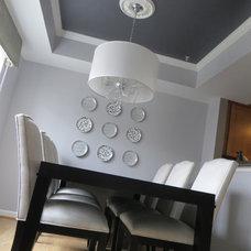 Contemporary Dining Room by Streamline Interiors, LLC
