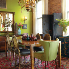 Eclectic Dining Room by Mark Radcliff interior
